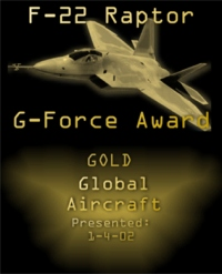 F-22 Raptor G-Force Award